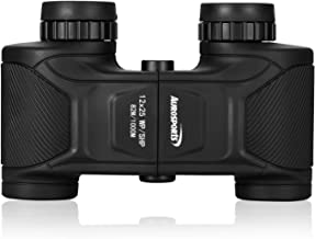 Aurosports 12x25 Wide Angle HD Binoculars High Powered Waterproof Shockproof Binocular BAK4 Prism FMC Lens for Hunting Hiking Bird Watching Traveling with Low Light Vision for Adults