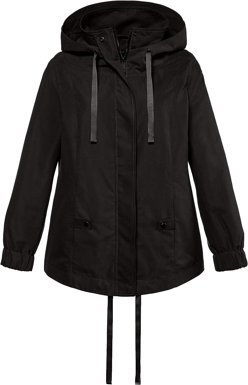 Ulla Popken Women's Plus Size Micro Peach Jacket 714889
