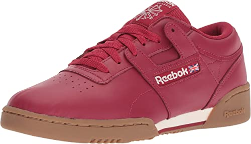 Reebok Hommes's Workout Clean Cross Trainer, Cranberry rouge Chalk g, 10.5 M US