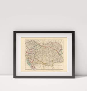Infinite Photographs 1884 Map of Austria|Austria - Hungary|Title: Austria - Hungary. by J. Arrowsmith. London: Edward Sta