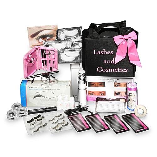 02537289860 Eyelash Extension Kit | No Burn Glue Non Irritant | Made in USA | Over 300