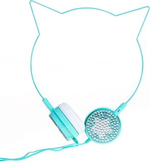 Beya Kids Headphones Over-Ear: Turquoise Cat Ears
