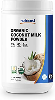 Nutricost Organic Coconut Milk Powder 2LBS - Non-GMO, Certified Organic Coconut Milk Powder
