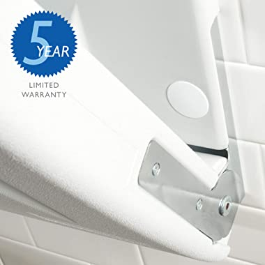 SafetyCraft Wall-Mounted Baby Changing Station, Vertical Changing Table with Safety Straps for Commercial Restrooms, Light Gr