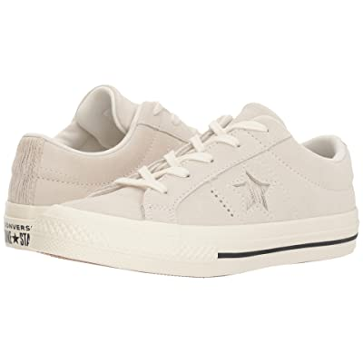 Converse Kids One Star Ox (Little Kid) (Egret/Gold/Egret) Girls Shoes