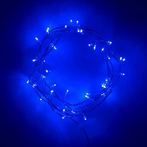 Lights4fun Indoor Fairy Lights with 40 Blue LEDs on Clear Cable