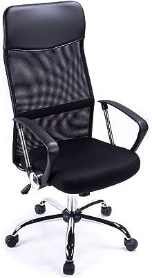Poltrona da direttore Ergonomica Tessuto a maglie annodate Meccanismo Inclinabile Sedia girevole Sedia per ufficio