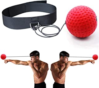 FEIERDUN Boxing Fight Ball Reflex for Improving Speed Reactions and Hand Eye Coordination