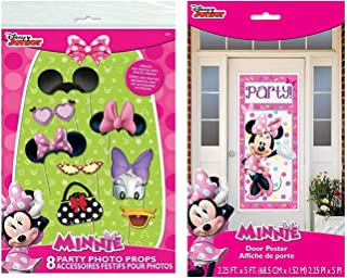 Minnie Mouse Photo Booth Props (8pc) and 1 Door Poster