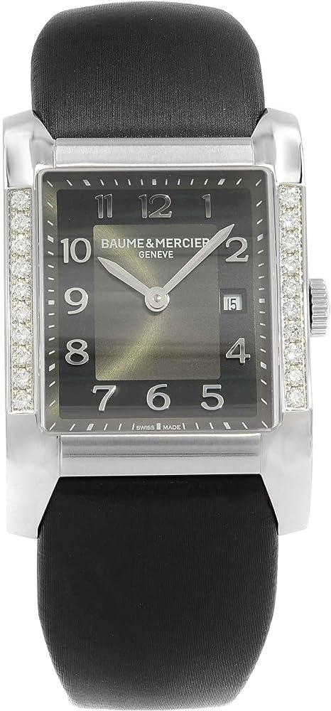 Baume & mercier hampton orologio da donna con diamanti originali MOA10022
