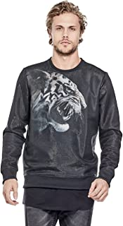 Men's Long Sleeve Embroidered Luther Tiger Crew