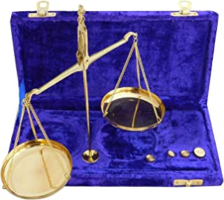 diollo 10gm Apothecary Scale with Velvet Box Vintage Brass Weight Scale Home Décor Antique Weight Balancing Scale Taraju