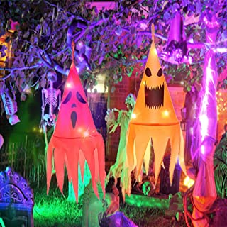 Halloween Decoraties 2 Stuks, Halloween Heksenhoed Decoratie, Halloween Hoed Verlicht, Heksenhoed Decoratie Led Tuin, Hang...