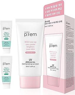 MAKEP: REM UV Defence Calamine Sun Milk - SPF 50 PA ضد ریف ، ضد آفتاب ضد نانو برای صورت ، بدن با پوست خشک و حساس به آکنه - مرطوب کننده ، مغذی ضد آفتاب ضد آفتاب صورت 5.07 fl. اونس