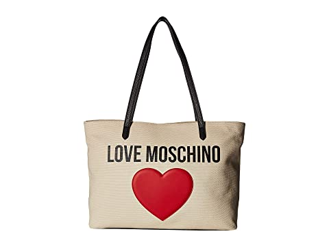 57495d4ca43 LOVE Moschino Canvas Tote at Luxury.Zappos.com