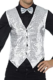 Smiffys 42938XL Sequin Waistcoat (X-Large)