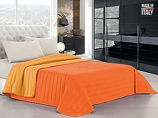 1 Piazza Arancione Biancheria Store Completo Lenzuola Letto in 3 Misure Prodotto in Italia Rigato Righe