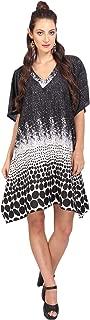 Miss Lavish London Women Tie Front Kaftan Tunic Kimono Free Size Dress for Loungewear Holidays Nightwear Beach Everyday Top