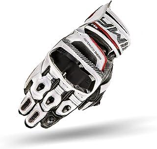 SHIMA XRS 2 PLUS, 2019 Kurze Sportliche Leder Motorhandschuhe mit Touchscreen und CE Zertifikat, Weiß / XL