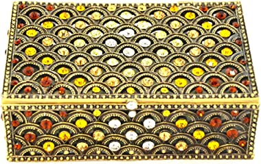 "Ciel Collectables 1012084B Decorative Designed Long Jeweler Trinket Box, 4.25"" x 1.50"" x 2.75"""