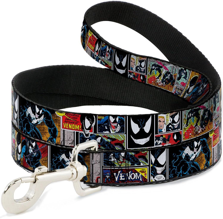 BuckleDown Venom Comic Book Panels Pet Leash, 4'1 2