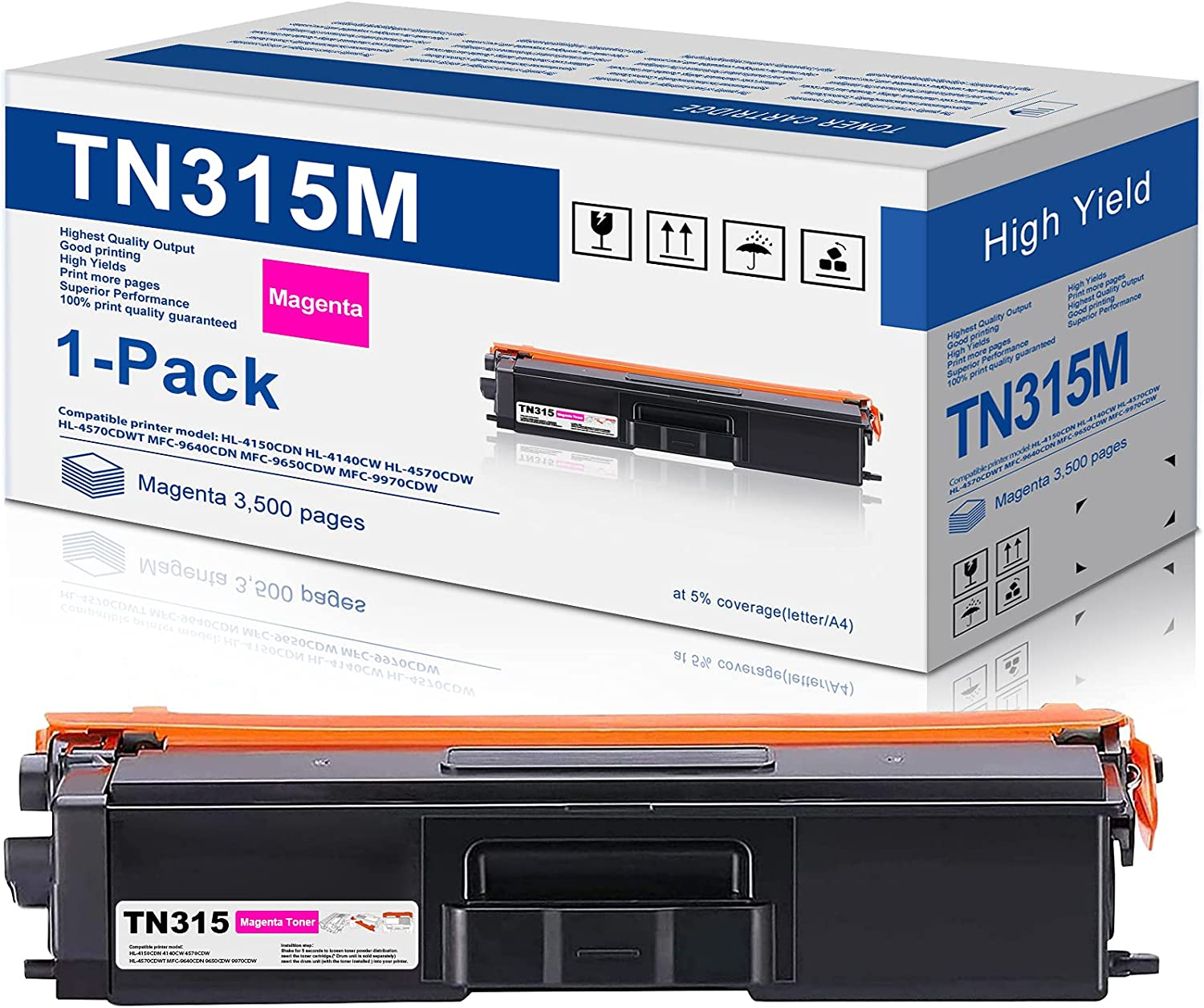 1-Pack Magenta 新作通販 Compatible Toner Cartridge Replacement 最安値挑戦 for Brothe