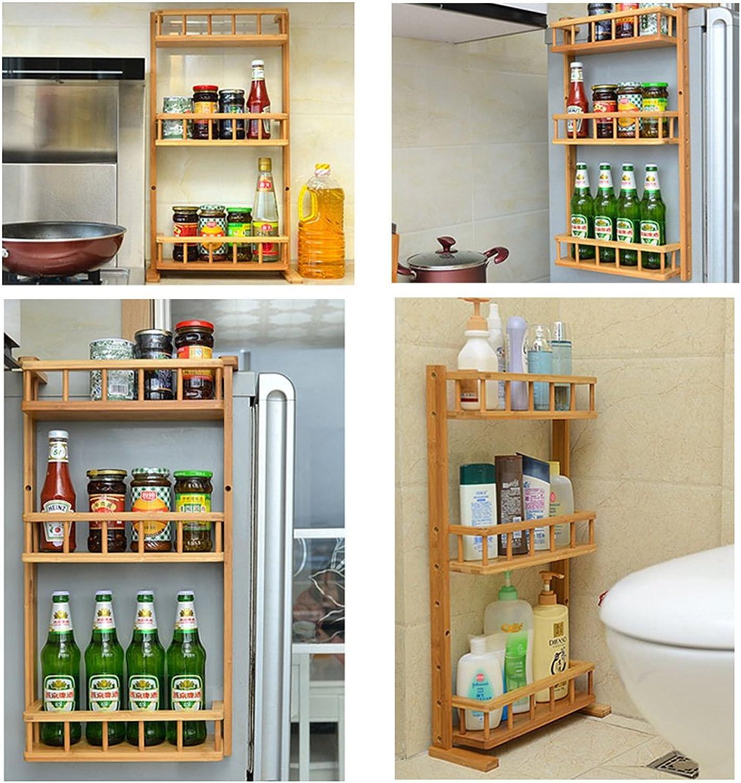 DE.DE. 3 Tiers Bamboo Kitchen Shelf Hung on Fridge Rack Space Saver