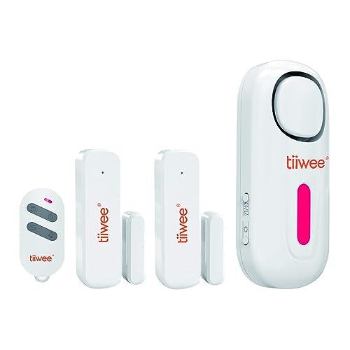 Tiiwee Kit d'Alarme Maison - Alarme avec 2 Capteurs Fenêtres et Porte et 1 Télécommande - Extensible - sans Fil