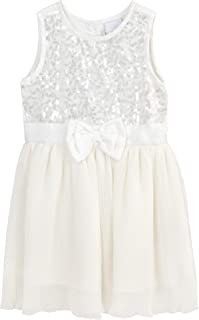 KRISP Embellished Neck Pleated Smock Dress (,) 4198 4201 4204
