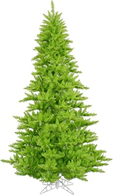 """Vickerman K162630 Fir Tree with 234 PVC Tips in a plastic stand, 3' x 25"""", Lime"""