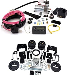Air Lift 57596 72000 Rear Set of Load Lifter 7500XL Series Air Springs with Wireless AIR Dual Path On-Board Air Compressor System Bundle for Ford F-250 F-350