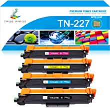 True Image Compatible Toner Cartridge Replacement for Brother TN227 TN223 MFCL3770Cdw HL-L3270Cdw HL-L3290Cdw MFC L3710CW L3750Cdw HL L3230Cdw HL-L3210Cw with Chip (Black Cyan Yellow Magenta, 4-Pack)