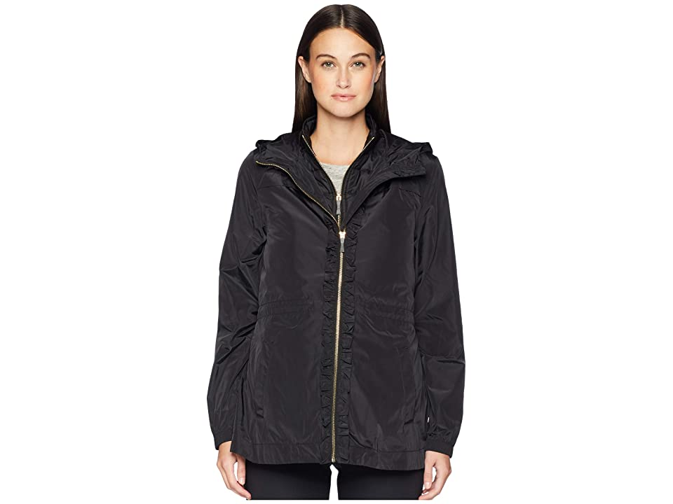 Kate Spade New York Athleisure Ruffle Placket Anorak (Black) Women