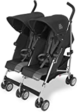 Maclaren Twin Triumph Stroller- Lightweight, Compact and Easy to maneuvers. Fits Through Standard doorways, independently extendable Hoods with Reclining Seats. Accessories Included