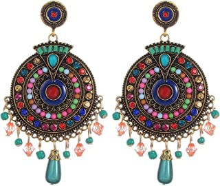 YouBella Jewellery Bohemian Multi-Color Earrings for Girls and Women