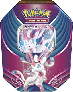 Pokemon 2018 Fall Evolution Celebration Tin- Sylveon-Gx + A Foil Gx Card + 4 Booster Pack