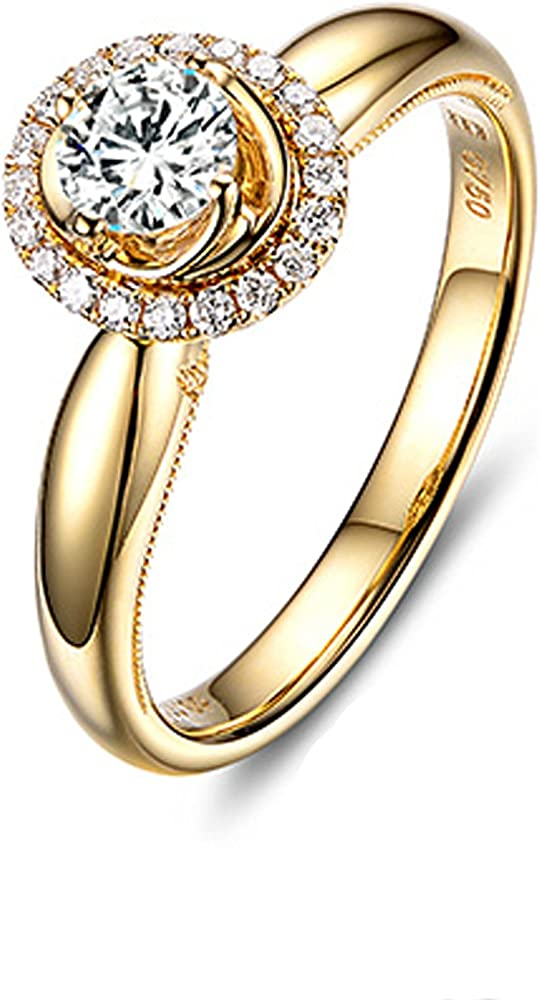 Daesar gioielli anello in oro 18 carati per donna con diamante da 1ct HP9GZ0ZBR410