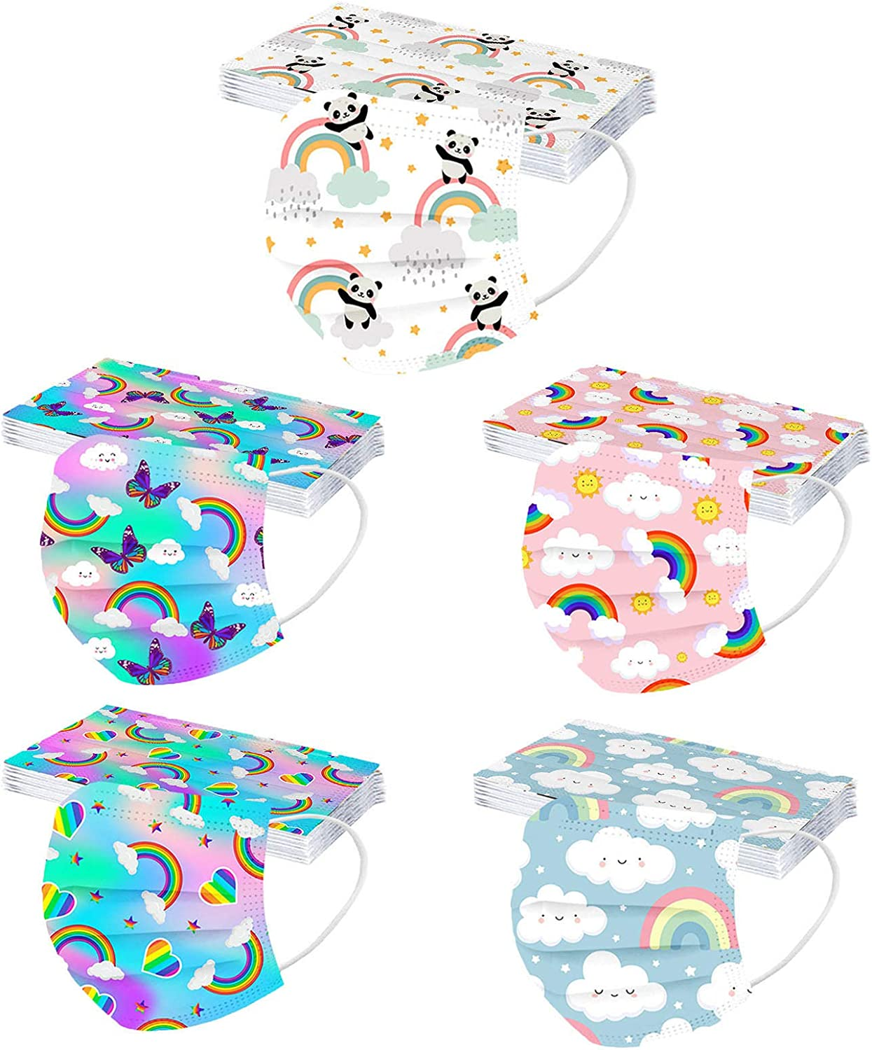 Be super welcome 50 Pcs Kids Disposable_Face_Masks Boys Spac Protection Seattle Mall Girls for