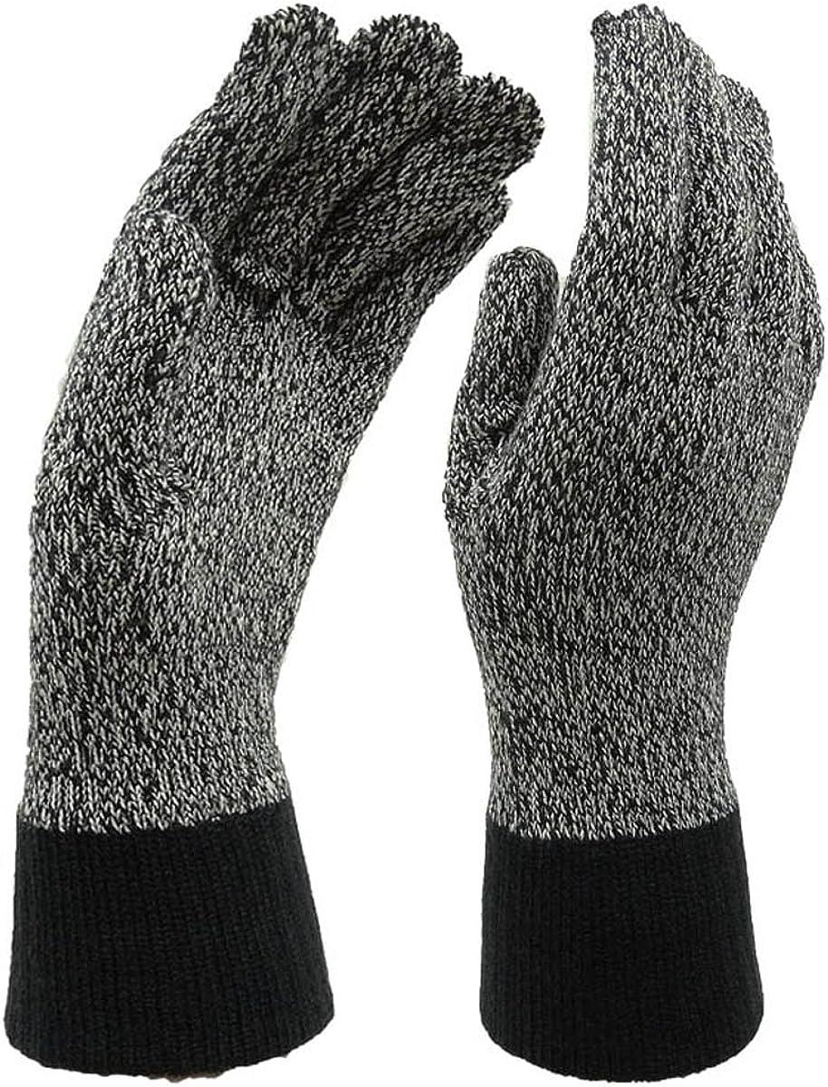 Isotoner Women's Heathered Lightweight Gloves, One Size, Black & Gray