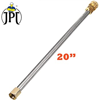 """JPT Pressure Washer Spray Wand/Extension Straight Rod, 20"""", 5000 PSI with QC Adapter"""