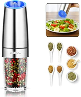 Automatic Salt Pepper Grinder or Gravity Pepper Mill Battery Operated Electric Salt and Pepper Grinder with Adjustable Coa...