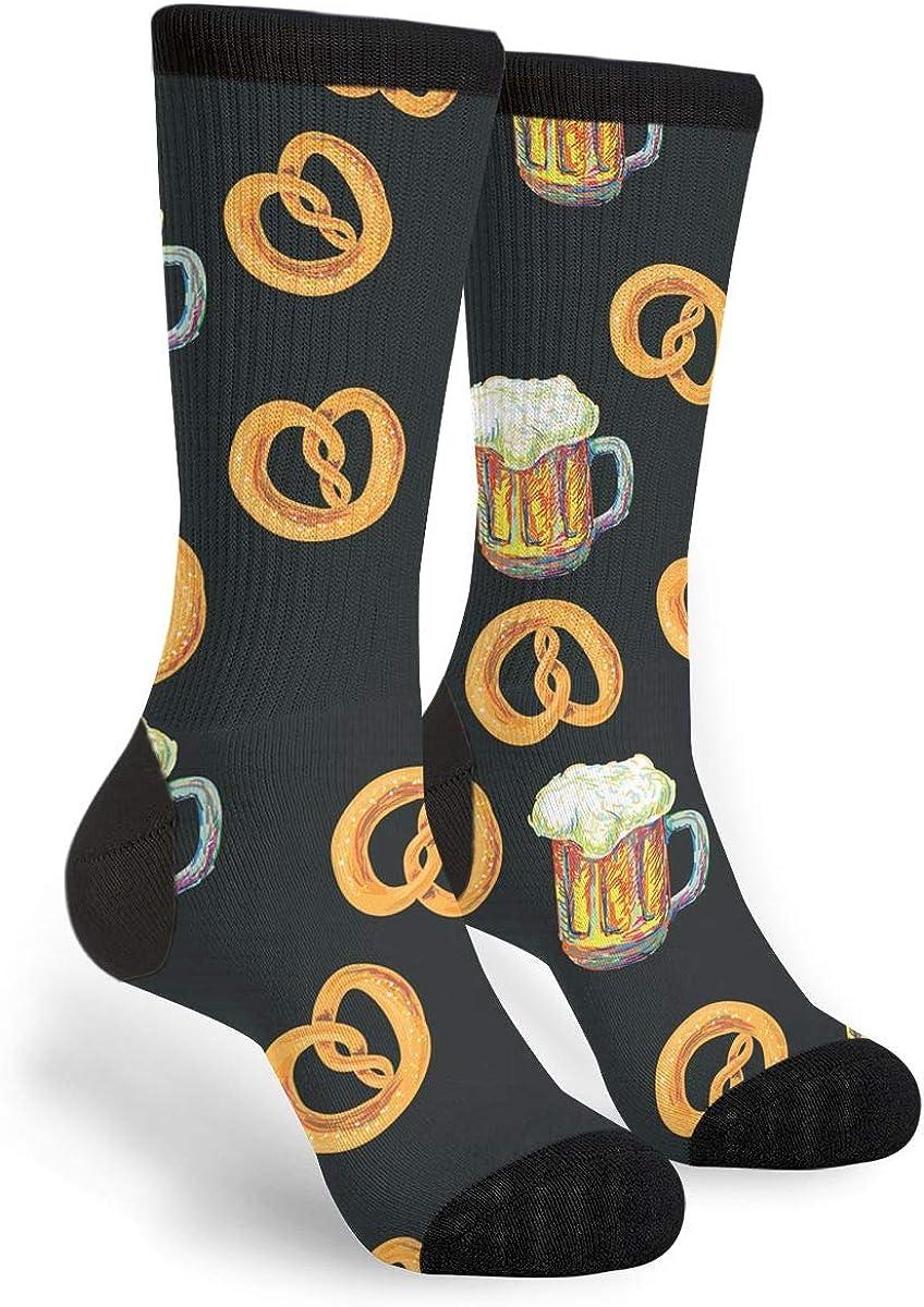 Pretzel Beer Unisex Casual Sports Socks Knee High Athletic Long Tube Stockings