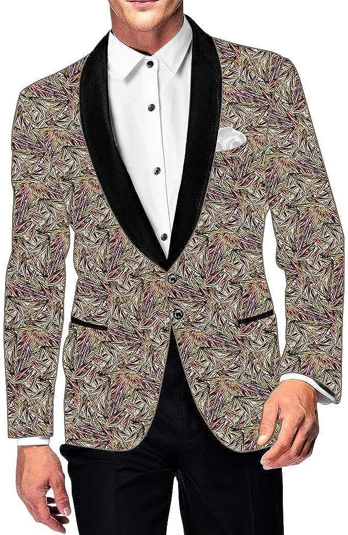 INMONARCH Mens Slim fit Casual Copper Color Blazer Sport Jacket Coat Purple Printed SB18170XL46 46 X-Long Copper