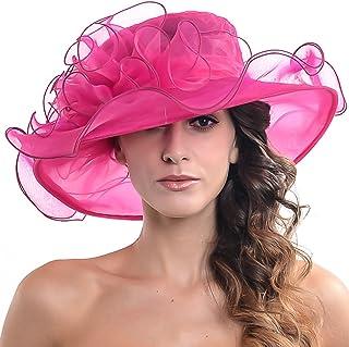 قبعة للنساء سوداء كنتاكي ديربي كنيسة فستان فاسنتور الزفاف أورجانزا حفلة شاي الزفاف