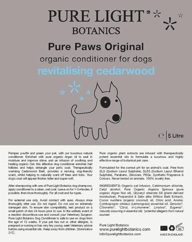 'PURE PAWS' ORIGINAL ORGANIC DOG CONDITIONER (5 litre)