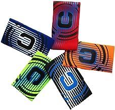 MHOYI Brazalete de capitán de fútbol, banda de capitán de fútbol juvenil elástica para niños y adultos, paquete de 5 colores, velcro para tamaño ajustable,