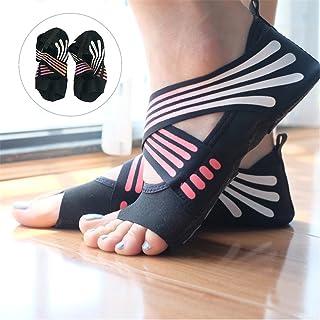 Calcetines de Yoga Antideslizantes para Mujer, algodón con Media Punta, Agarre Antideslizante, para Yoga, Pilates, Suela de Zapatos para Fitness, Danza