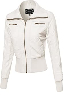 Best off white womens leather jacket Reviews