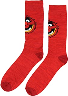 Disney The Muppets Socks Animal Men's Casual Crew Socks, Shoe Size 8-12