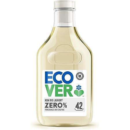 洗濯洗剤 肌に優しい ecover エコベールゼロ 濃縮 液体 本体 ボトル (無香料・無着色) 1500ml 海外 赤ちゃん laundry 日用品 マスク洗剤